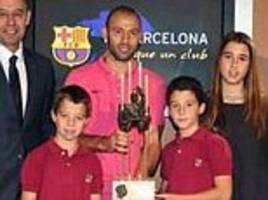 Lionel Messi misses out on another award as Javier Mascherano is named Barcelona player of the year